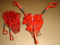 rotary pipe slips, safety clamps, rotary table bushings